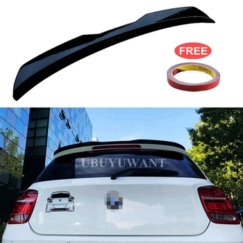 Rear Roof Lip Spoiler For 2012-2018 BMW 1 Series F20 Hatchback Spoiler 120i 125i1 18im 135i 116i ABS Car Tail Wing Side Spoiler carbon fiber rear trunk wings m4 spoiler for bmw 4 series f36 420i 428i 435i gran coupe 4 door 2013 gloss black spoiler wing