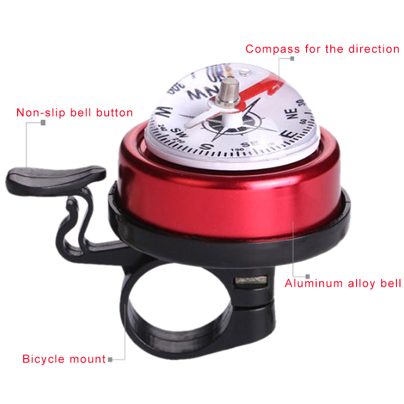 Bike Bicycle Invisible Bell Aluminum Loud Sound Compass Handlebar Safety Horn/_US