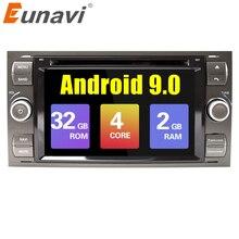 Eunavi 2 din Android 9,Zero coche DVD GPS Radio estéreo para Ford Mondeo Ford S-max Center of attention C-MAX Galaxy Fiesta forma fusión PC Multimedia DSP