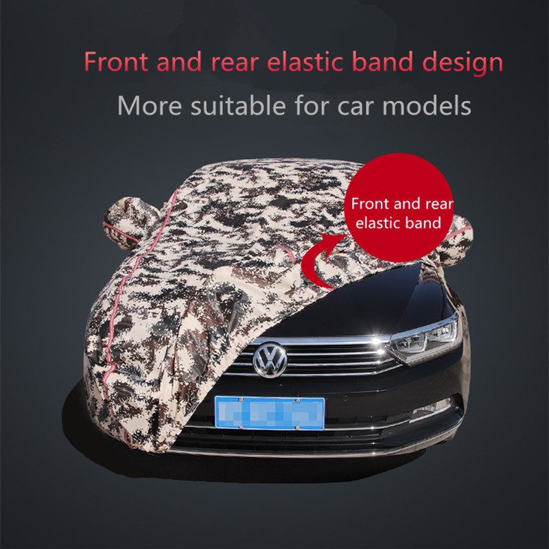 Winter car cover waterproof thickening snow cover universal car glass cover outdoor anti rain sun shade case for car - 2