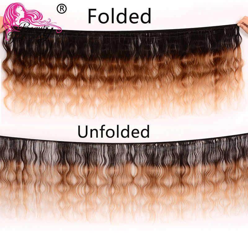 Beauty forever Омбре перуанские волосы объемная волна человеческих волос Remy 1 Комплект три тона Цвет T1B/4/27 Бесплатная доставка