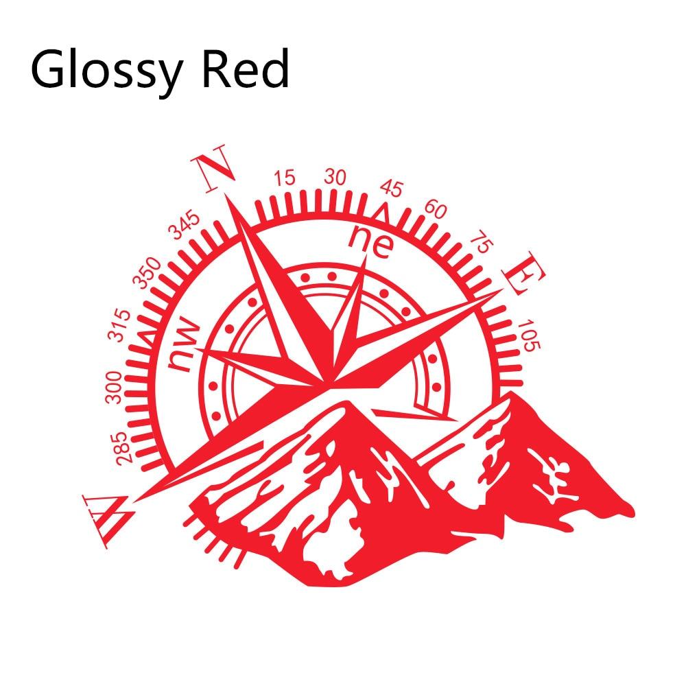 Боковые наклейки для автомобильной двери, виниловая пленка, авто украшение, наклейка для водонепроницаемого внедорожника, Ford Chevy, Стайлинг, автомобильные тюнинговые аксессуары - Название цвета: Glossy Red