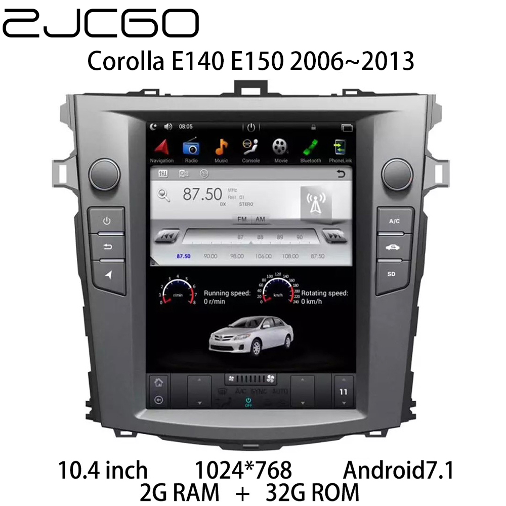 Car Multimedia Player Stereo GPS DVD Radio Navigation NAVI Android Screen for <font><b>Toyota</b></font> <font><b>Corolla</b></font> E140 <font><b>E150</b></font> 2006~2013 image