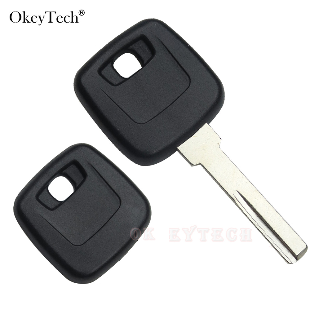 Okeytech 1pcs <font><b>Replacement</b></font> <font><b>Key</b></font> Shell Fit For <font><b>VOLVO</b></font> <font><b>S40</b></font> V40 S60 S80 XC70 Original Copy <font><b>Key</b></font> Blank HU56R blade Car <font><b>Key</b></font> Case Cover image