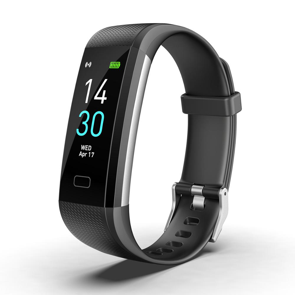 Smart Watch Global Version IP68 Waterproof Heart Rate Fitness Activity Tracker Bracelet Wristband Colorful Display Smart Band