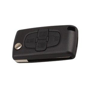 Image 3 - Araba yedek anahtar kabuk 4 düğme çevirme katlanır uzaktan anahtar kutu Fob kapak boş Blade için Peugeot 1007 Citroen C8