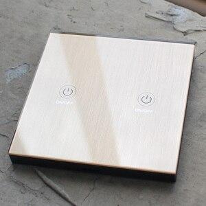 Image 3 - Ktnnkgゴールド 86 壁タッチリモコンワイヤレスrfトランスミッタ強化ガラスパネル + ledランプライトのための 433mhzのEV1527 チップ