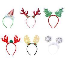 Год Рождество олень обруч на голову с рогами крюк для взрослых и детей подарок голова аксессуар