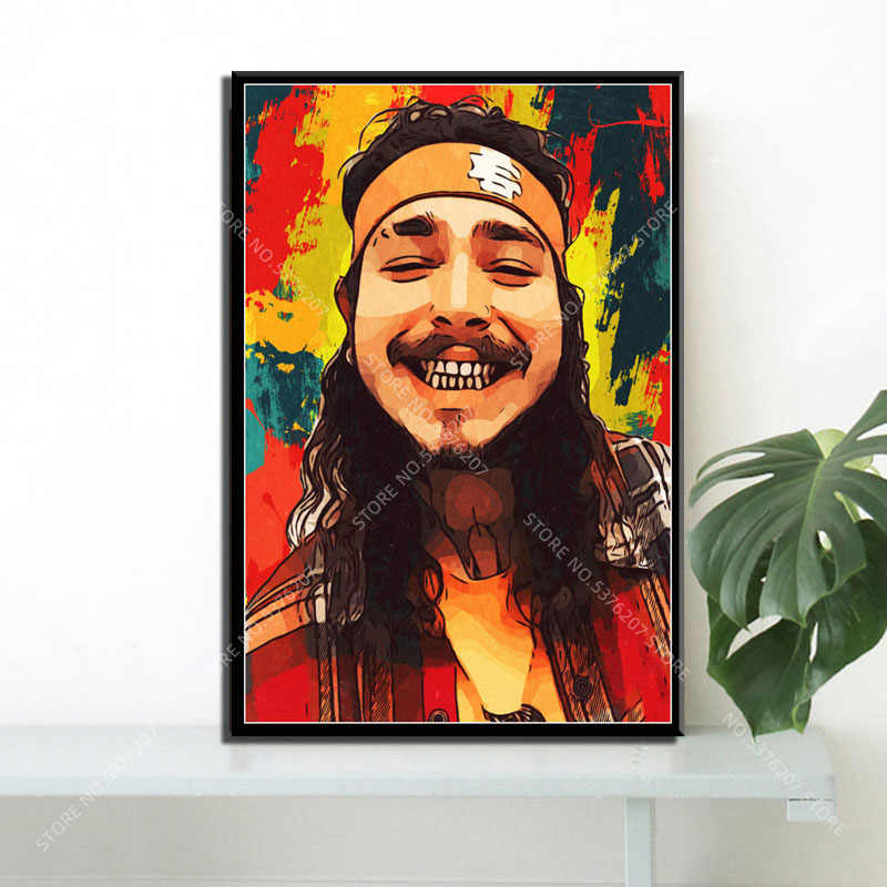 P388 Art Decor Post Malone Rapper Music Star Hip Hop Rap Silk Poster