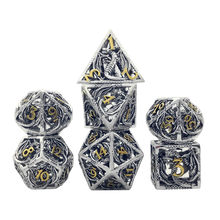 New Metal Hollow DND Dice Set D20 Dados Rol Polyhedral RPG Dice Playing Dobbelstenen Dobbel Game Dobbelspel kostki do gry Dadi