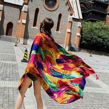 2019 Feather Women Scarf New Summer Spring Girls Color Shawl Beach Blanket Poncho Hijab Luxury Scarver Ponchos and Capes