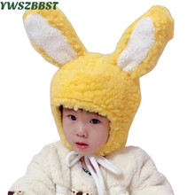 New Autumn Winter Crochet Children Hats Rabbit Ear Girl Boy Wool Cap Baby Cap Toddlers Kids Knit Beanie Hats baby hats baby toddler kids boy girl knitted crochet rabbit ear beanie winter warm hat cap dropship ma30m30