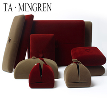 TA MINGREN New Product Luxury Wedding Velvet Insert Jewelry Ring Case Box Customer Necklace Box cheap Velvet Ring Box RBH004 Cases Displays on the detail page Eco-friendly Durable Jewelry Package Accept OEM Customized Jewlery Box