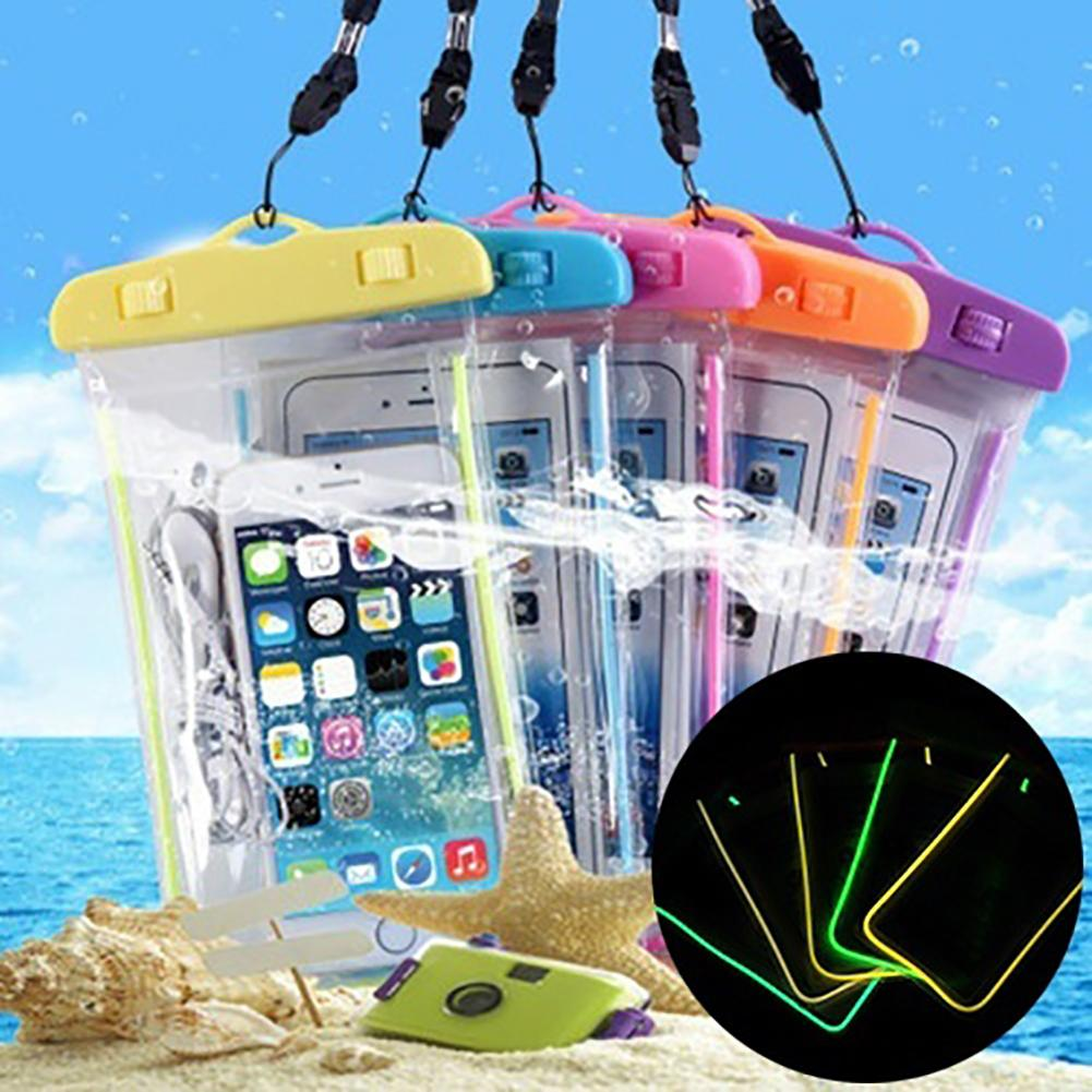 Summer Luminous Outdoor Waterproof Pouch Swimming Gadget Beach Dry Bag Phone Case Cover Camping Skiing Holder For Cell Phone
