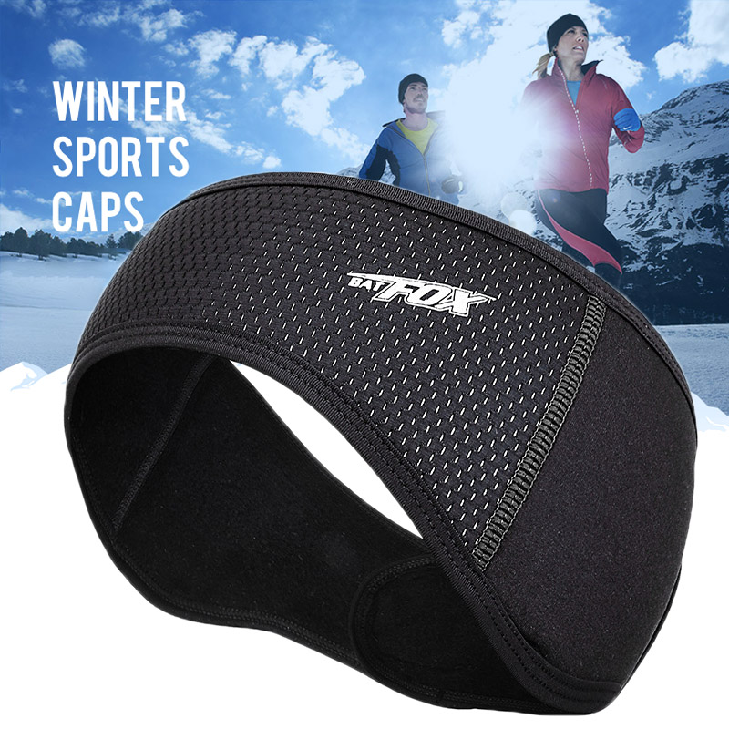 BATFOX Men Women Fleece Bike Headband Ear Warmers Muffs Runing Headband Cycling Skiing Workout Yoga Running Riding Headband