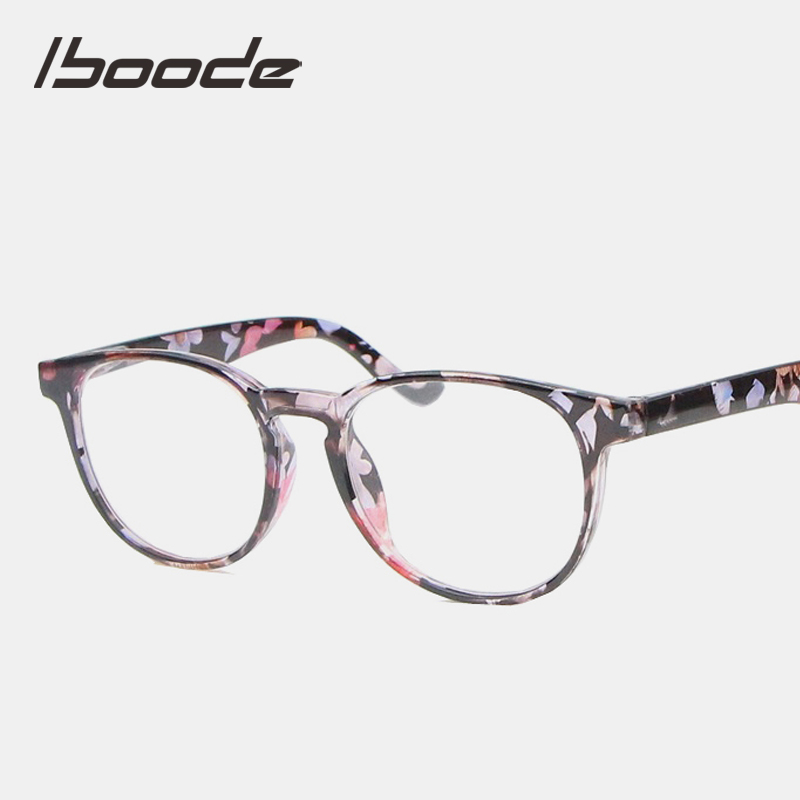 Iboode Retro Floral Transparent Frame Reading Presbyopia Glasses Women Men With +1.0 1.25 1.50 1.75 2.0 2.25 2.5 2.75 3.0 3.5 4