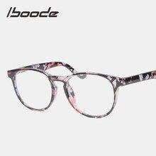Iboode Retro diseño Floral transparente de lectura marco la presbicia gafas de los hombres y las mujeres con + 1,0, 1,25, 1,50, 1,75, 2,0, 2,25, 2,5, 2,75, 3,0, 3,5 4