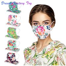 50 sztuk dorosłych kwiatowy maska modny kwiat damskie drukowane boże narodzenie maska coseplay Masque 3ply włókniny pętla do uszu Mascarillas tanie tanio Akcesoria do cosplay MATERNITY W wieku 0-6m 7-12m 13-24m 25-36m 4-6y 7-12y 12 + y 18 + CN (pochodzenie) inny PIERWSZA EDYCJA