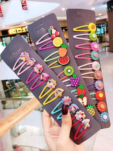 1 Set Cute Princess Fruit Hairpins Children Kids Hair Clips Pins Barrette Accessories for women girl Hairgrip Headwear Hairclip 3
