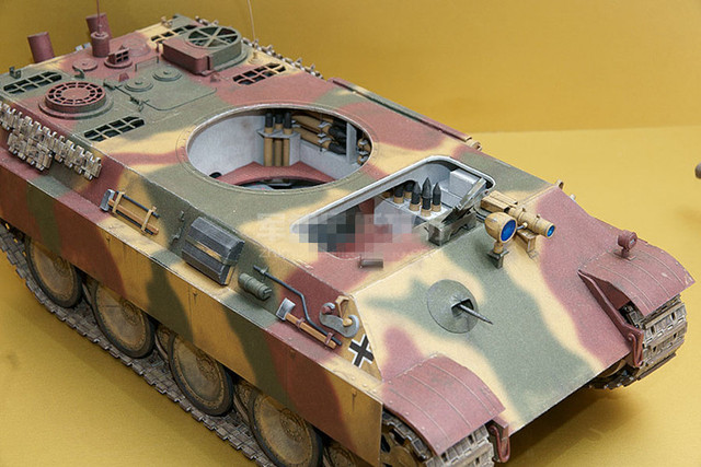 1:25 Scale WW2 Germany Panzerkampfwagen V Panther Sd.Kfz. 171 Tank Paper Model Handmade Toy Puzzles 4