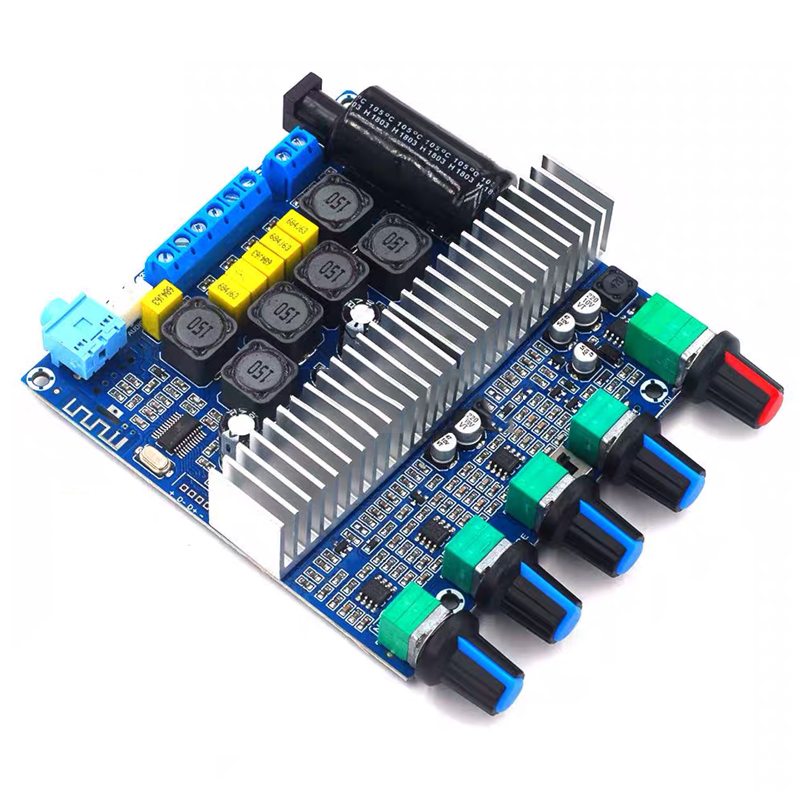 2*50W+100W TPA3116 Bluetooth HIFI Power Subwoofer Amplifier Board 2.1 Channel TPA3116D2  Audio Stereo equalizer Amp
