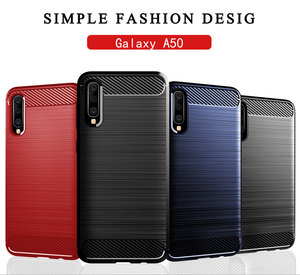 Image 5 - Carbon Soft Silicone Phone Case For Samsung Galaxy A50 A10 A20 A30 A40 A70 M20 M30 M40 Fiber Cover Bumper GalaxyA50 Galaxi 2019