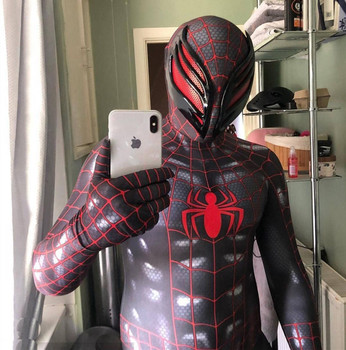 Anime Symbiotic Spiderman Peter Parker Cosplay Costumes Spider Superhero Kids Adults Zentai Jumpsuits Bodysuits Rompers Suit tanie i dobre opinie Kombinezony i pajacyki Film i TELEWIZJA Unisex Dla dorosłych Zestawy Spider man spandex