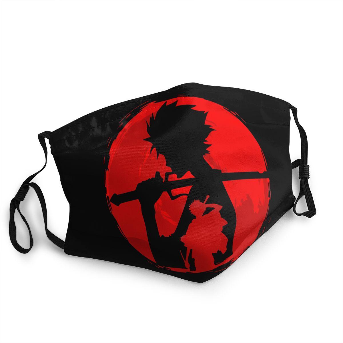 Máscara con diseño artístico, divertida, de Champloo samurái 20 piezas PM2.5 de algodón unisex, mascarilla facial Anti-humo transpirable y lavable con mufla bucal para ciclismo