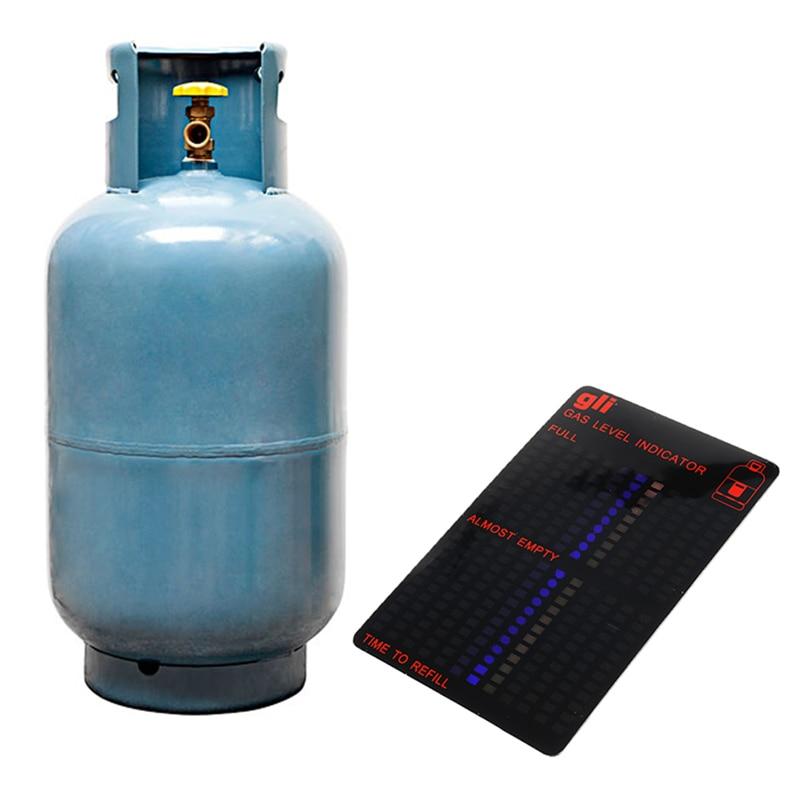 Magnetic Gas Cylinder Tool Gas Tank Level Indicator Propane Butane LPG Fuel Gauge Caravan Bottle Temperature Measuring