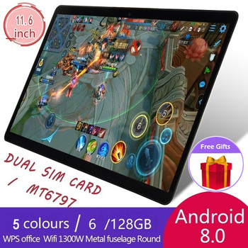 Popular 6G+128G Android 8.1 Smart Tablet 2560*1600 IPS 10-inch Screen Ten Core 4G Network WiFi Tablet Dual SIM Dual Camera