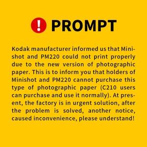 Image 3 - KODAK Juego de cartuchos de papel todo en uno C210, tecnología de impresión apalancamiento 4Pass 20 40 50 100, tinta para paquete de impresora fotográfica