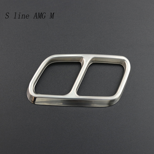 Autocollants de décoration de cadre de gorge de queue dautomobiles de style de voiture pour Mercedes Benz GLK X204 CLS W218 accessoires de tuyau déchappement de classe