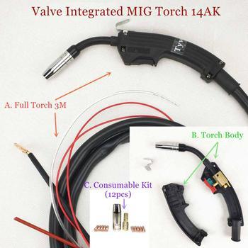 Válvula integrada 15AK MIG antorcha de soldadura MIG antorcha Soldadura MAG pistola refrigerada por aire 14AK antorcha