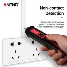 ANENG VD802 Non-Contact AC Voltage Electric Tester Pen Induction Test Pencil With LED Light Electric Detectors Tester 12~1000V multiple induction pencil non contact electrical test pencil 50 1000v ac voltage detector tester indicator locate wire break 609