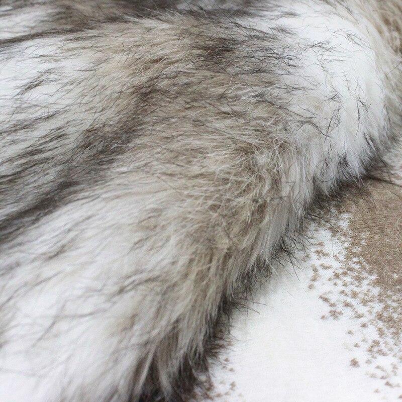 160*100cm café jacquard rayure fausse peluche fourrure tissu pour patchwork manteau taie d'oreiller gilet col de fourrure longue peluche fourrure tissu telas