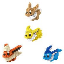 hot LegoINGlys creators Anime Game poke monster Eevee Vaporeon Flareon Jolteon mini micro diamond blocks model nano bricks toys