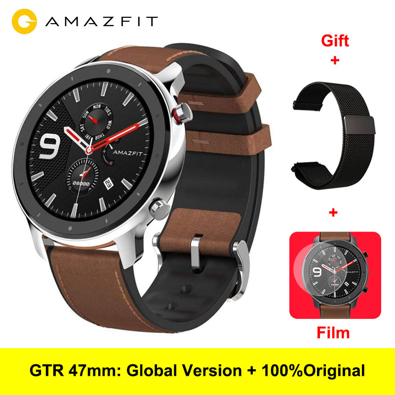 Amazfit GTR 47MM Smartwatch Waterproof GPS Heart Rate Men Women Electronic Smart Watch Sport Fitness Tracker