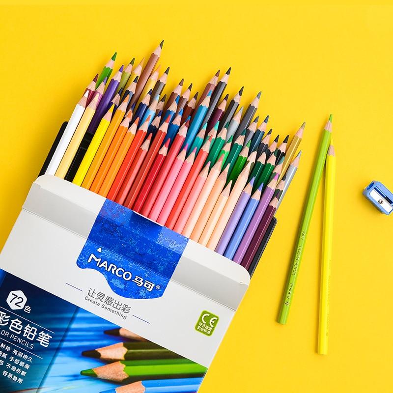 Marco 24/36/48/72 couleurs huile Couleur Crayon ensemble artiste dessin Couleur Crayon De Couleur couleurs Para Pintar arc-en-ciel coloriage
