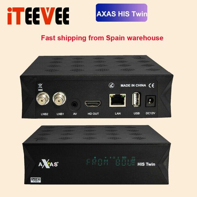 מלא HD מקלט לווין עם 2x DVB S2 ישב מקלט מותקן עם Axas שלו תאום לינוקס E2 פתוח טרקטורונים 6.4 טלוויזיה תיבת המניה עכשיו
