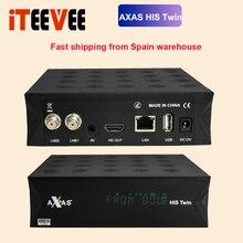 フルhd衛星放送受信機と2x DVB S2土チューナーインストールaxas彼ツインlinux E2オープンatv 6.4テレビ箱の在庫今