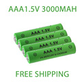 Новинка, перезаряжаемая батарея AAA 1,5 в, 3000 мАч, никель-металлогидридная батарея 1,5 в AAA для часов, мышей, компьютеров, игрушек, бесплатная дост...