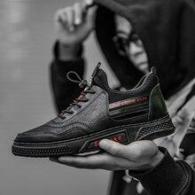 حذاء رجالي بولي Leather جلد حذاء كاجوال للرجال النمط البريطاني حذاء رسمي الدانتيل يصل الذكور المتسكعون أحذية رياضية الذكور أسود كول
