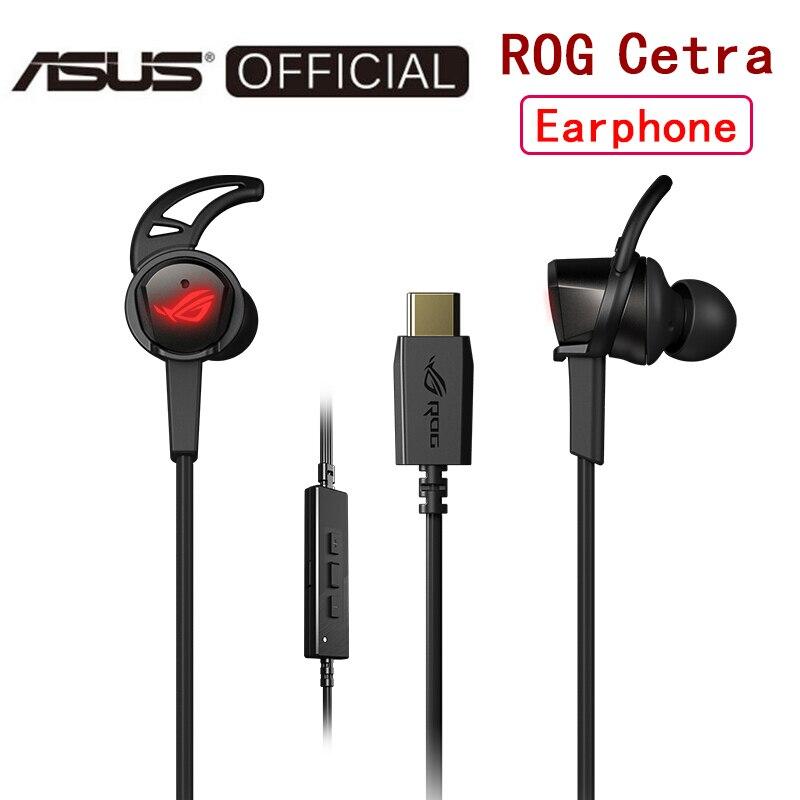 ASUS ROG Cetra, игровые наушники для телефона, наушники в ухо, аксессуары для телефона, 7,1-канальный ANC, активное шумоподавление, проводная гарнитур...