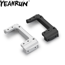 цена на YEAHRUN Aluminum Front Plate Bumper Mount For Axial SCX10 1:10 RC Crawler Car 90046 90047