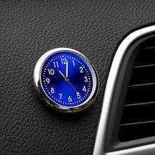 Horloge de voiture Mini Automobiles lumineuses internes à coller mécanique de montre numérique horloges à Quartz ornement automatique 40mm 43mm