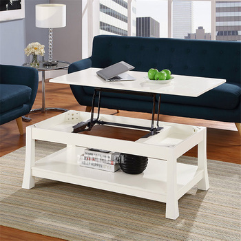 HZYK-0036 Liftable Side Table Sit Stand Home Laptop Table Space-Saving Storage Table Living Room Dual-Purpose Computer Desk
