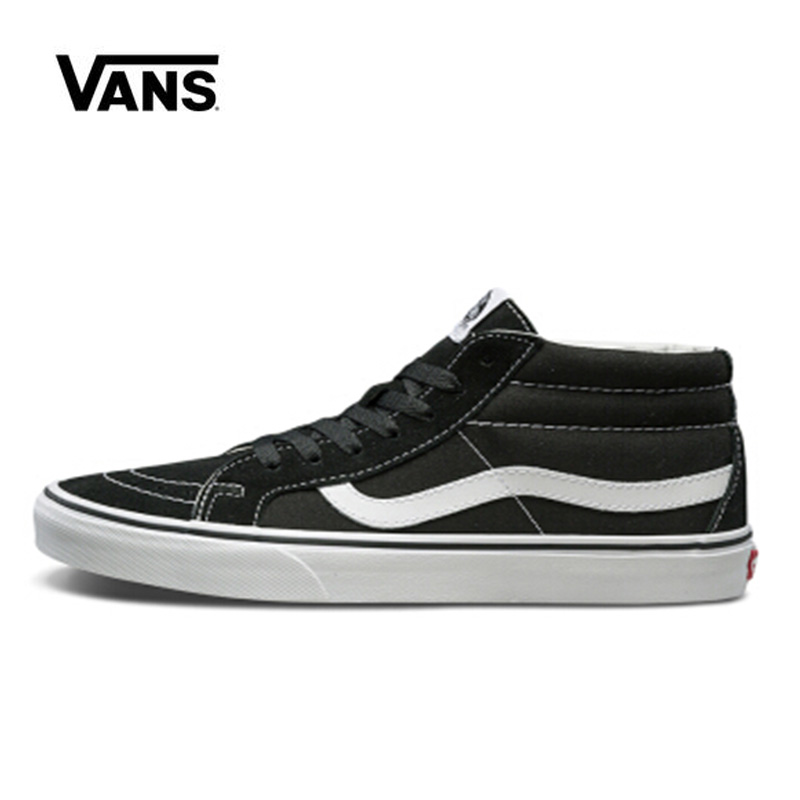 Original Vans Sk8 Hi Mid Back Shoes Man And Women Unisex High Mid Classic Sneakers Skateboarding Shoes VN0A391F6BT