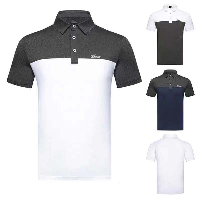 Golf men's short-sleeved sports t-shirt, breathable, casual, sweat-wicking Polo shirt
