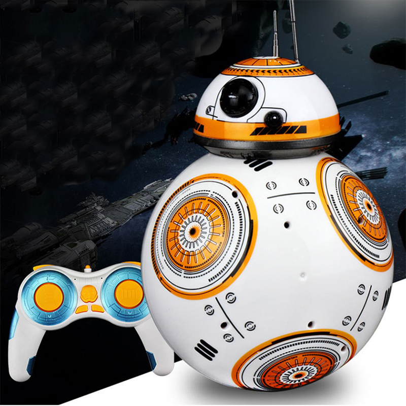Star Wars Sound Dancing Electric RC <font><b>Robots</b></font> <font><b>BB8</b></font> Small Ball 2.4G Remote Control Action Figure Kid <font><b>Toys</b></font> Intelligent Model Gifts image
