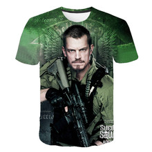 Summer new movie suicide squad funny 3D printed short-sleeved men and women clothes street T-shirt new Harajuku T-shirt